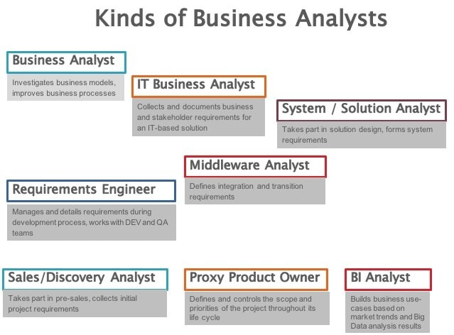 Types of Business Analysts